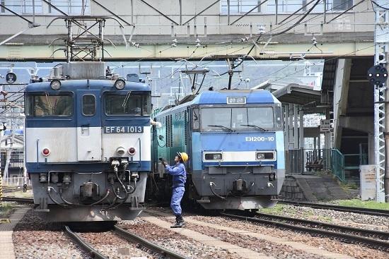 2020年5月6日撮影 南松本にて 西線貨物8084レ 無線機返却