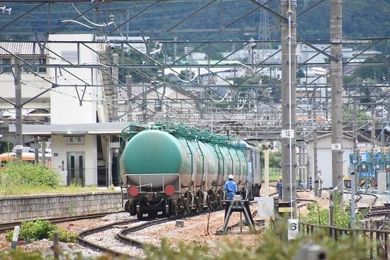 2020年7月18日撮影 坂城貨物5774レ EH200-8号機 坂城駅到着