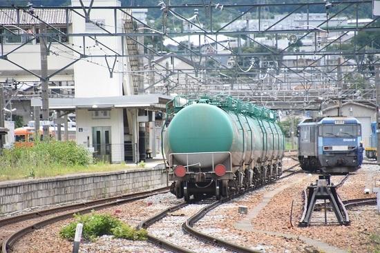 2020年7月18日撮影 坂城貨物5774レ EH200-8号機 バック運転にて側線へ