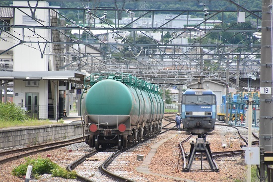 2020年7月18日撮影 坂城貨物5774レ EH200-8号機 側線にて待機