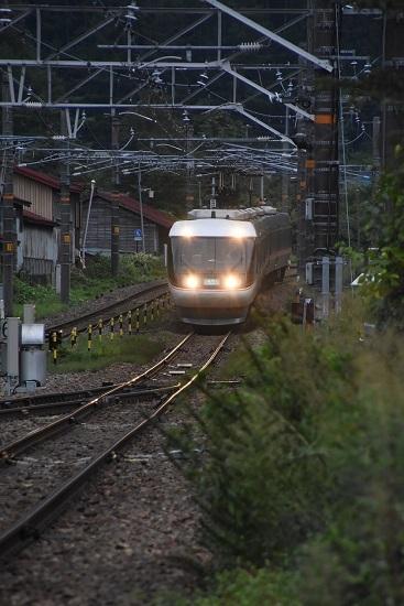 2020年8月30日撮影 奈良井駅にて1017M 383系「WVしなの17号」