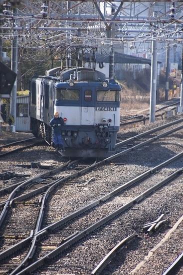 2020年2月29日撮影 南松本にて 西線貨物8084レ機回し
