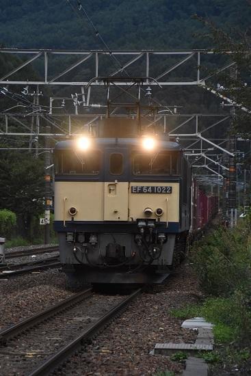 2020年8月30日撮影 西線貨物81レ 下り本線を通過するEF64-1022号機