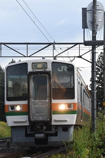 2020年9月6日撮影 大沢信号所 528M 213系発車