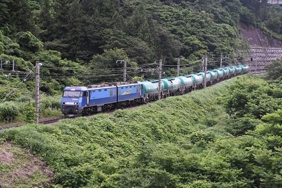 2020年7月18日撮影 篠ノ井線2084レ EH200-2号機 羽尾信号場