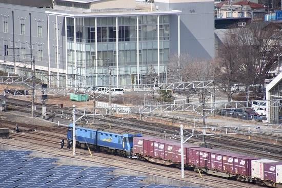 2020年2月29日撮影 塩尻大門俯瞰 その2 東線貨物2083レ