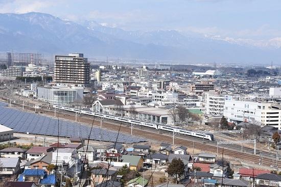 2020年2月29日撮影 塩尻大門俯瞰 その5 16M E353系 あずさ16号