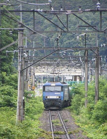 2020年7月18日撮影 篠ノ井線2084レ EH200-2号機 西条駅発車