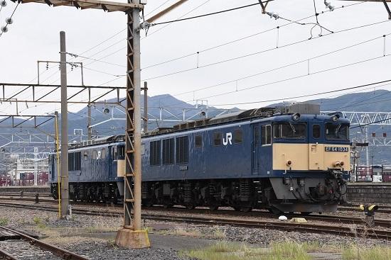 2020年5月9日撮影 南松本にて EF64-1034+1033号機 原色重連