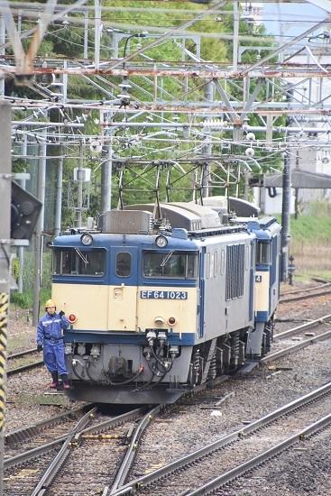 2020年5月9日撮影 南松本にて 西線貨物8084レ 機回し EF64-1023号機先頭