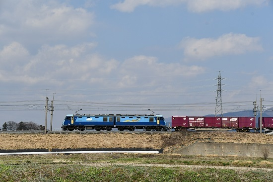 2020年4月4日撮影 東線貨物2083レ EH200-6号機