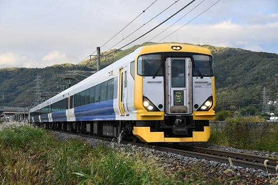 2020年10月24日撮影 篠ノ井線 E257系500番台 9433M ミッドナイトラン信州