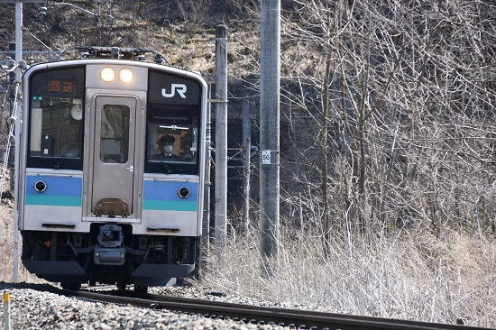2020年4月4日撮影 辰野線 E127系回送