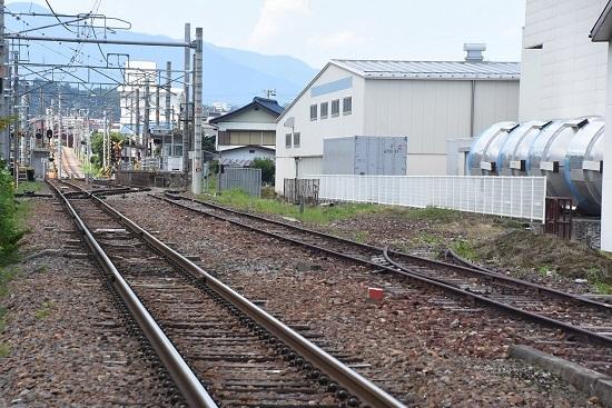 2020年7月19日撮影 沢渡駅 廃止の貨物線の側線 その2