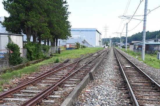2020年7月19日撮影 沢渡駅 廃止の貨物線の側線 その3