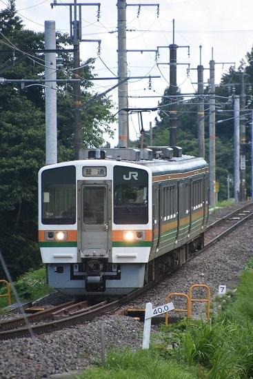 2020年7月19日撮影 飯田線は40‰を駆け下りる2223M 213系