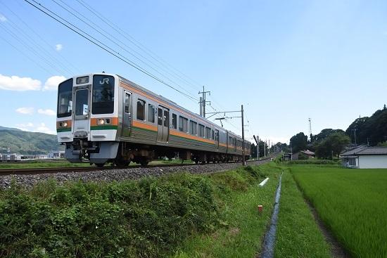 2020年7月19日撮影 飯田線は40‰を駆け下りて来た2223M 213系