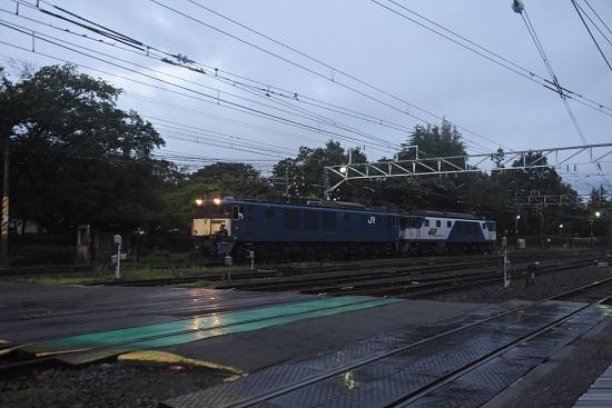 2020年7月25日撮影 南松本にて 西線貨物6089レ EF64機回し