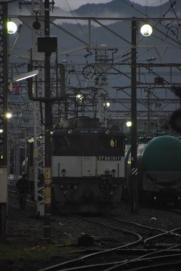 2020年7月25日撮影 南松本にて 西線貨物6089レ EF64機回し終わり