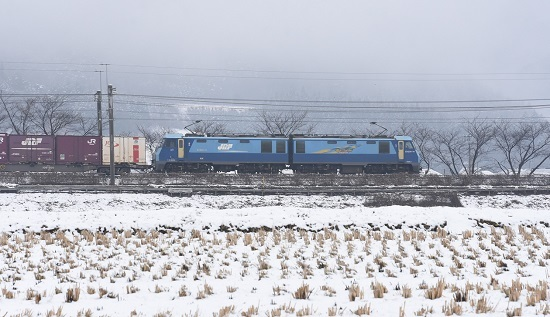 2020年3月8日撮影 東線貨物2083レ EH200-14号機サイドから