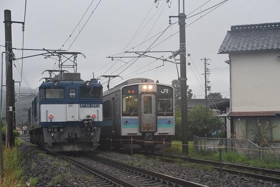 2020年7月25日撮影 篠ノ井線8467レ 2230M E127系すれ違い