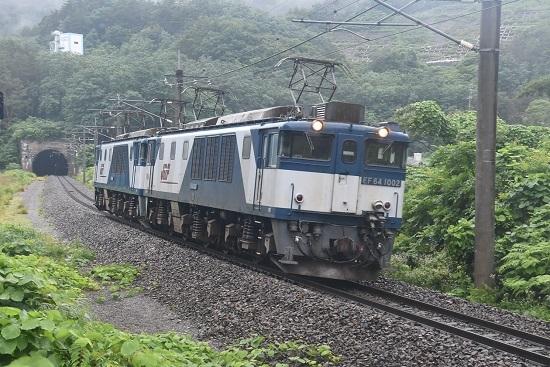 2020年7月25日撮影 篠ノ井線8467レ 西条トンネル出口