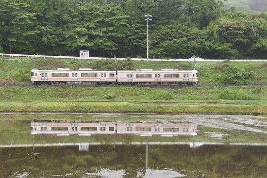 2020年5月17日撮影 飯田線 207M 313系を水鏡