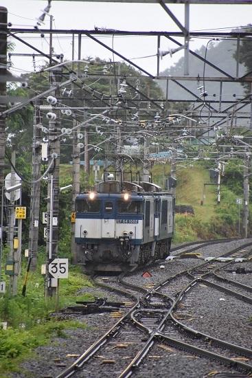 2020年7月25日撮影 篠ノ井線8467レ 姨捨駅引き上げ線に入るEF64重連