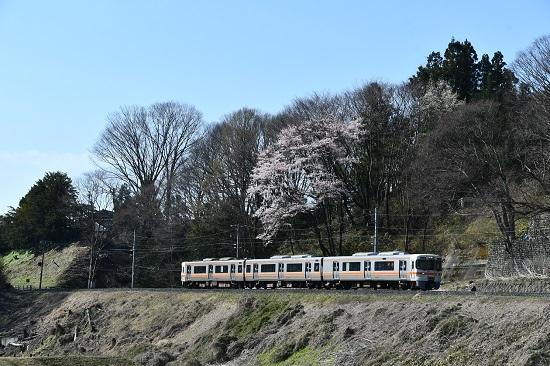 2020年4月11日撮影 飯田線 213M 313系1700番台