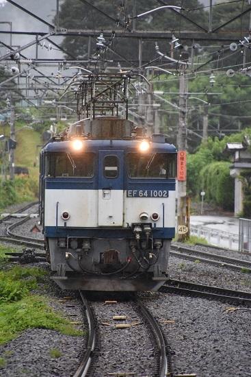 2020年7月25日撮影 篠ノ井線8467レ EF64重連のパンタが揃う