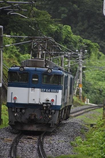 2020年7月25日撮影 篠ノ井線8467レ 姨捨駅の坂を駆け下りるEF64重連