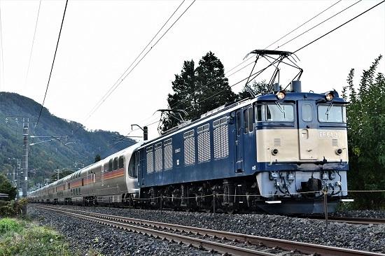 2020年10月25日撮影 田沢駅近くにて9011レ EF64-36号機が牽く「カシオペア紀行」
