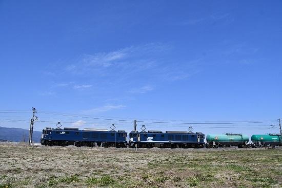 2020年4月11日撮影 西線貨物8084レ EF64-1034+1049号機