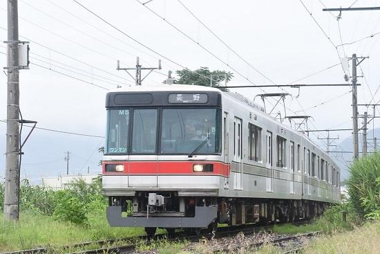 2020年7月25日撮影 長野電鉄3000系 桜沢駅にて