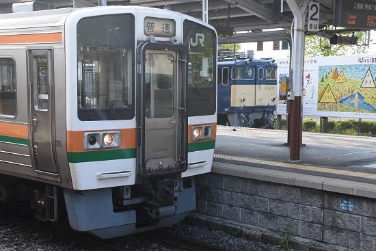2020年5月22日撮影 岡谷駅にてEF64-37号機と213系の並び