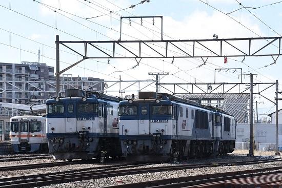 2020年3月15日撮影 南松本にてEF64-1011号機と1005号機の並び