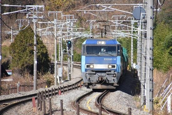 2020年11月28日撮影 東線貨物2080レ EH200-18号機