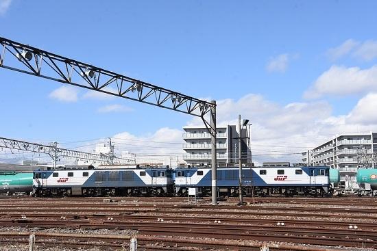 2020年3月15日撮影 南松本にてEF64-1017+1018号機