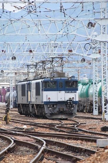 2020年5月23日撮影 南松本にて西線貨物8084レ EF64-1017+1023号機