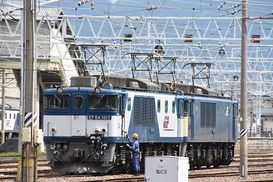2020年5月23日撮影 南松本にて西線貨物8084レ 無線機渡し