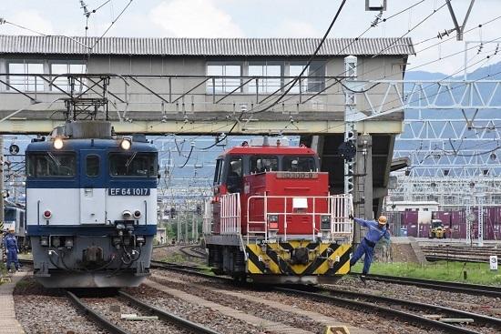 2020年5月23日撮影 南松本にて EF64-1017号機とHD300-9号機