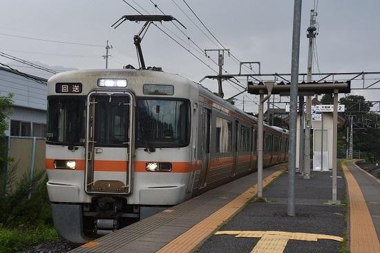 2020年7月30日撮影 飯田線は伊那新町駅にて313系1700番台 B151編成回送