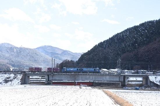 2020年3月15日撮影 東線貨物2083レ EH200-9号機をサイドから