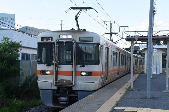 2020年7月31日撮影 飯田線は伊那新町駅にて313系1700番台 B153編成回送