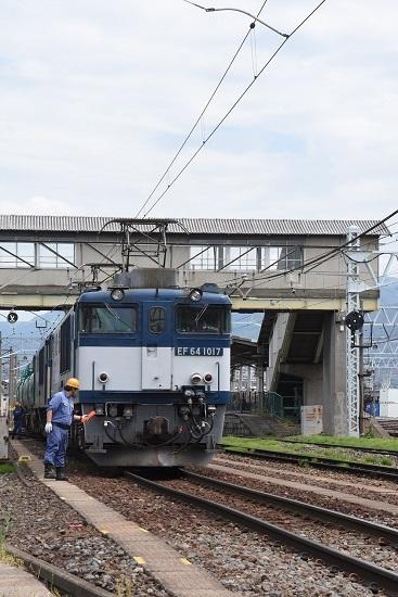 2020年5月23日撮影 南松本にて 西線貨物8084レ 作業員の釜チェック