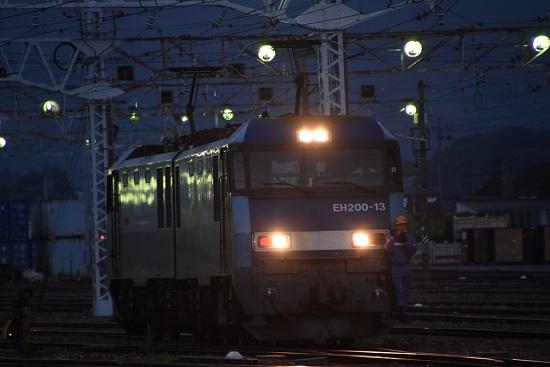 2020年8月1日撮影 南松本にて EH200-13号機 機回し