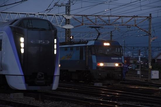 2020年8月1日撮影 南松本にて EH200-13号機とE353系の回送