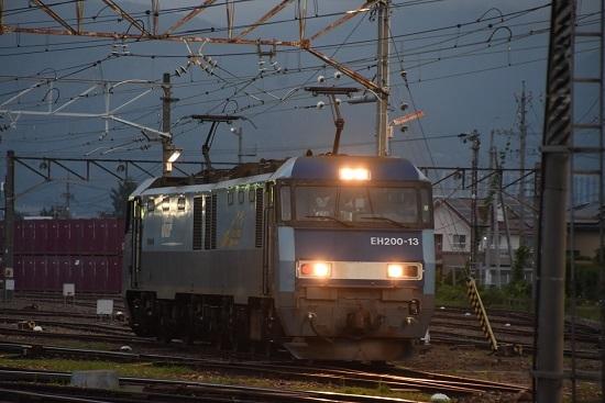 2020年8月1日撮影 南松本にて EH200-13号機 バック運転