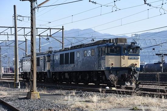 2020年3月21日撮影 南松本にて EF64-1043号機 原色重連