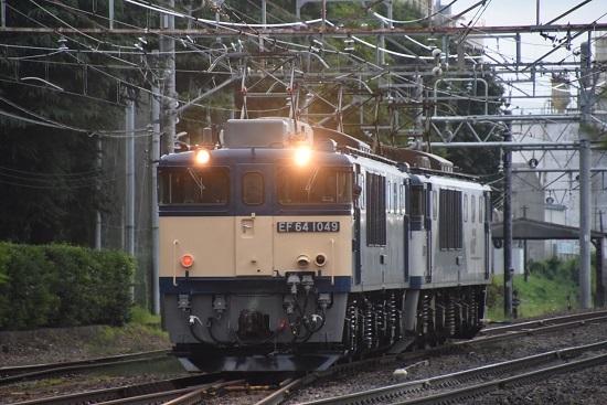 2020年8月1日撮影 南松本にてEF64-1049号機 原色機回し